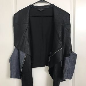 Karen Kane Faux Leather Vest